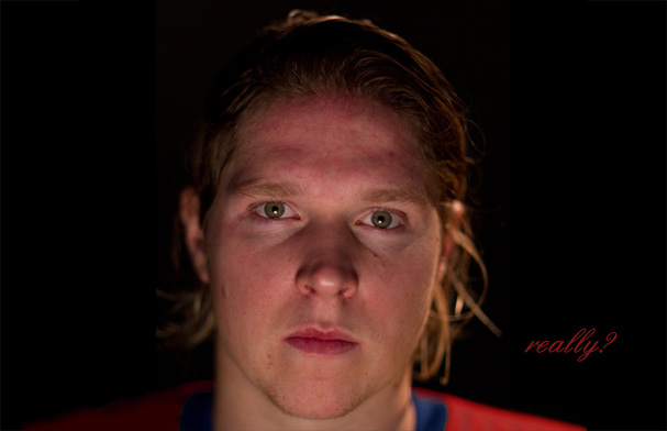 A Portrait of supposedly the 9th best Center in the NHL, Nicklas Backstrom. (Photo by Al Bello/Editing by Ian Oland of RMNB)