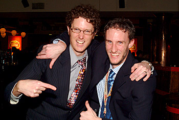 Edward Fraser (left) of The Hockey News, apparently not a GR8 fan