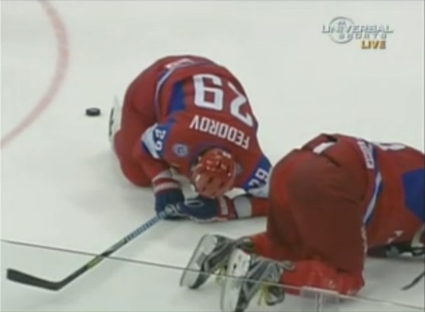 Ovechkin Checks Fedorov