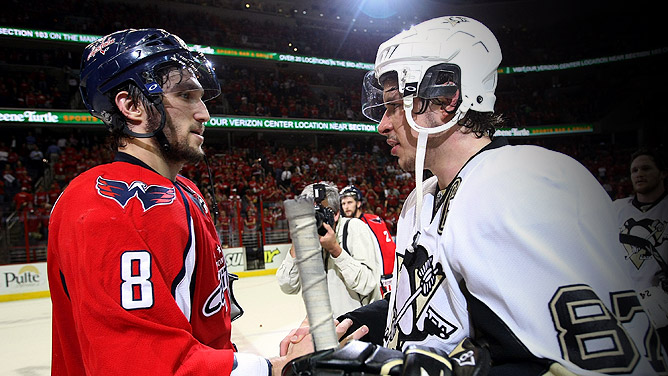 The Caps Lose to The Penguins in Game 7 - Ovechkin and Crosby Shake Hands