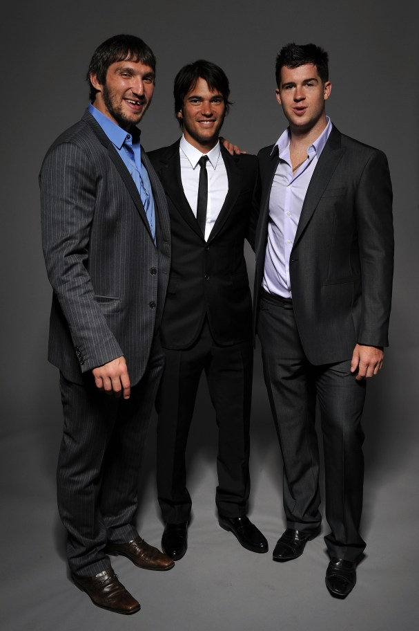 Alex Ovechkin, Jose Theodore & Mike Green at the 2010 NHL Awards in Las Vegas