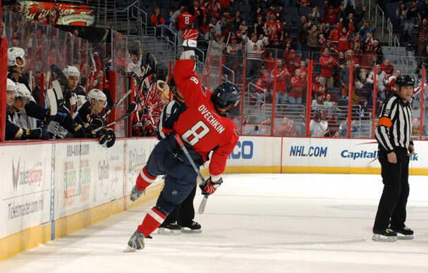 Ovechkin Scores League Leading Goal Number 39 Against The Trashers