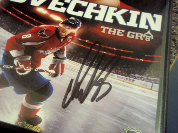 The freshly graphed DVD, signed by the Russian Machine.