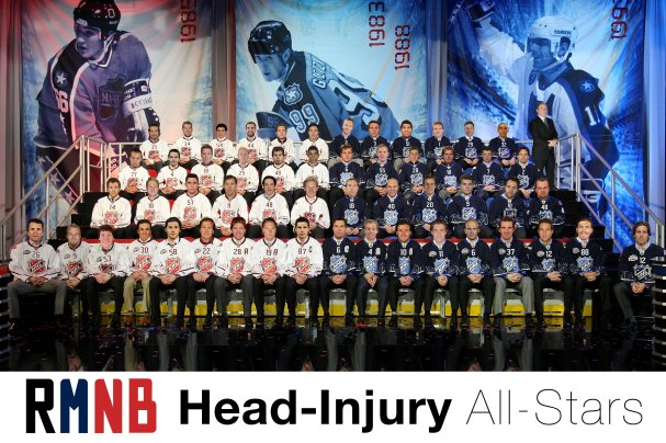 NHL All-Stars Suffering from Concussions and Head Injuries
