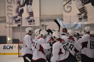Team White celebrates win. (Photos by Addison Huber)