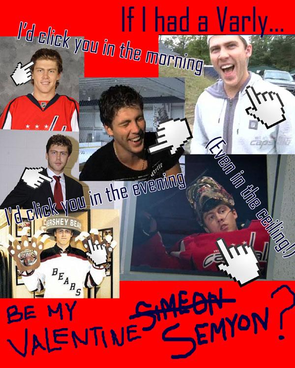 "Semyon Varlamov ""Click On Me"" Valentine"