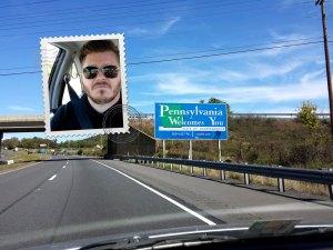 Chris and his sister enter Pennsylvania