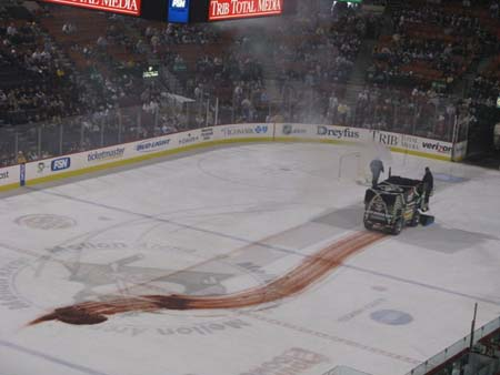 The zamboni should be busy tonight...