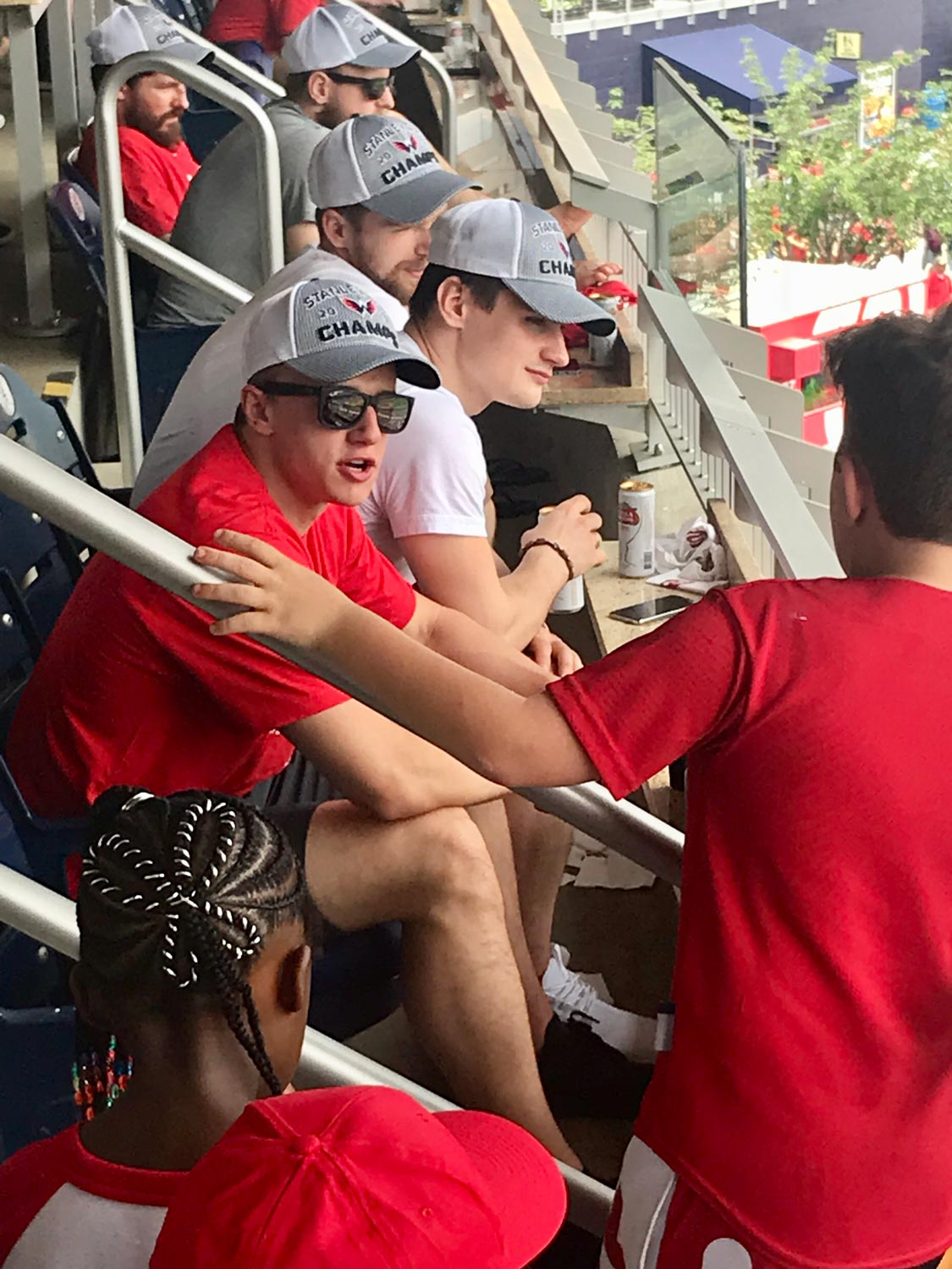 10-year-old chats with Jakub Vrana at Nationals Game