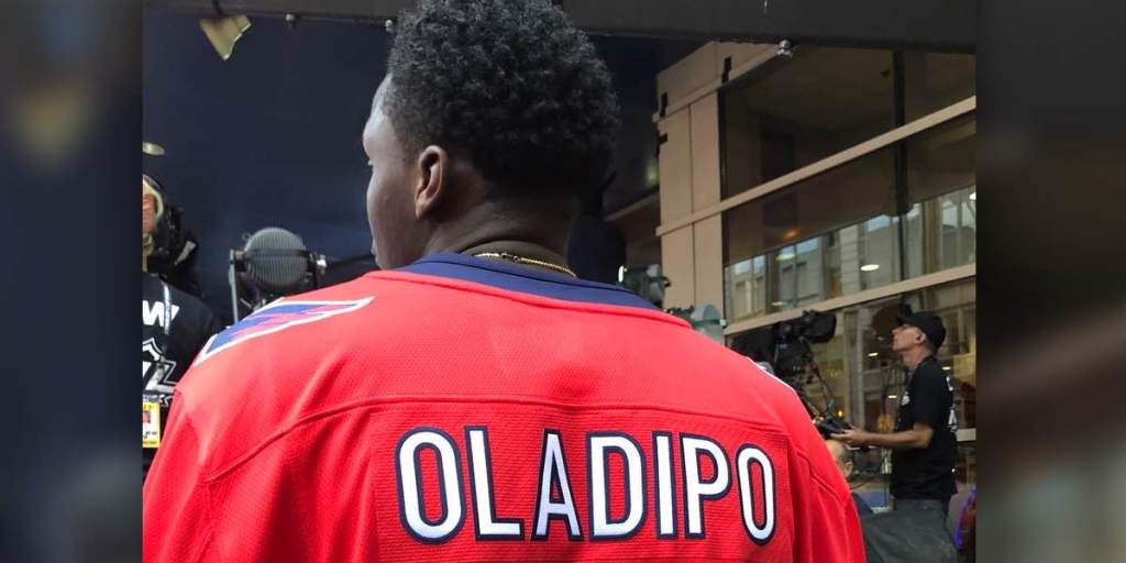 cheaper 52866 8dcf2 Indiana Pacers' All-Star Victor Oladipo is at the Caps game ...