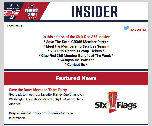 Capitals season-ticket holder party is returning to Six