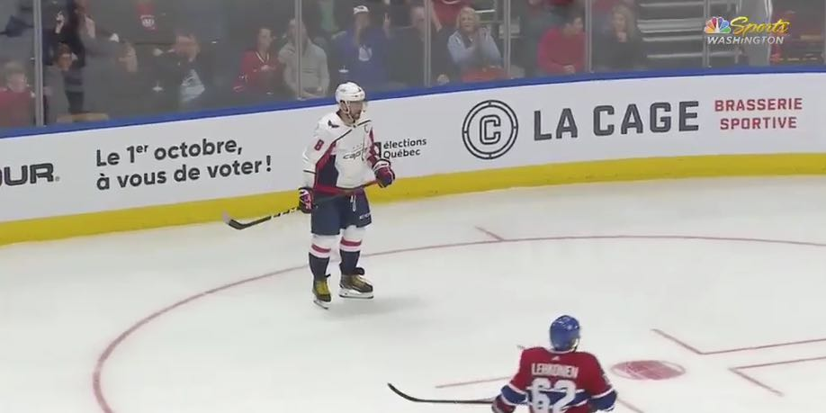 ef2f6699329 Alex Ovechkin scored on his first shot of the preseason. He didn t  celebrate.