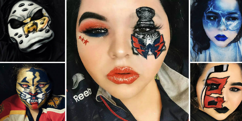 Creative Hockey Fan Uses Makeup To Design Tributes To NHL Teams