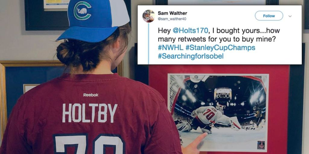 new arrival a485a 0c4c6 NWHL goalie Sam Walther bought Braden Holtby's shirt. Now ...