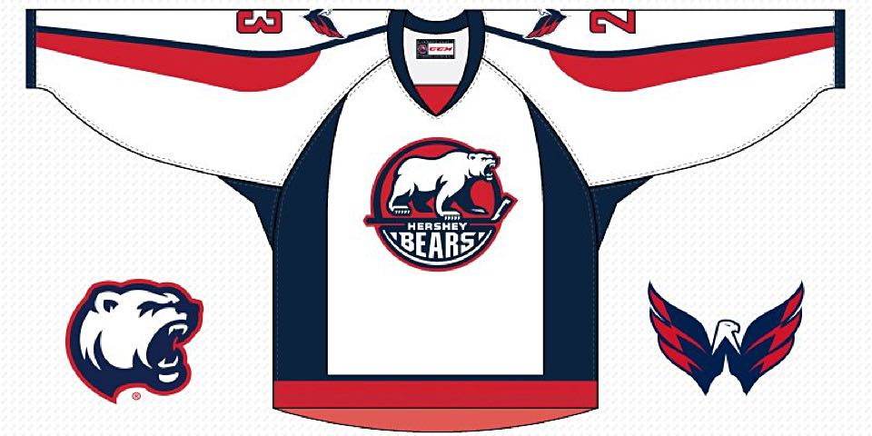 size 40 1532a 04f53 Hershey Bears to wear special Capitals-themed jerseys on Oct ...