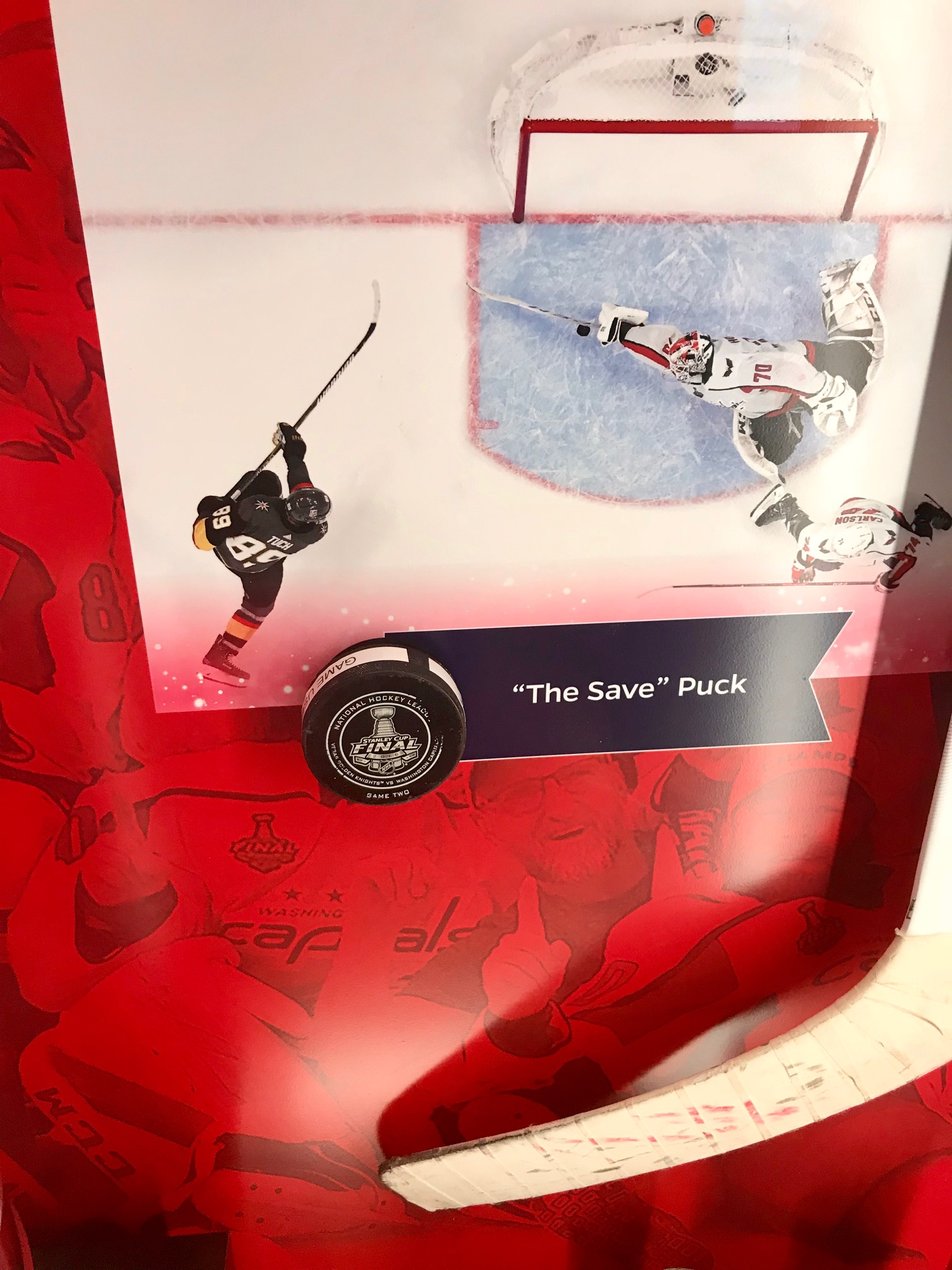 New Stanley Cup Final display features 'The Save' puck and stick