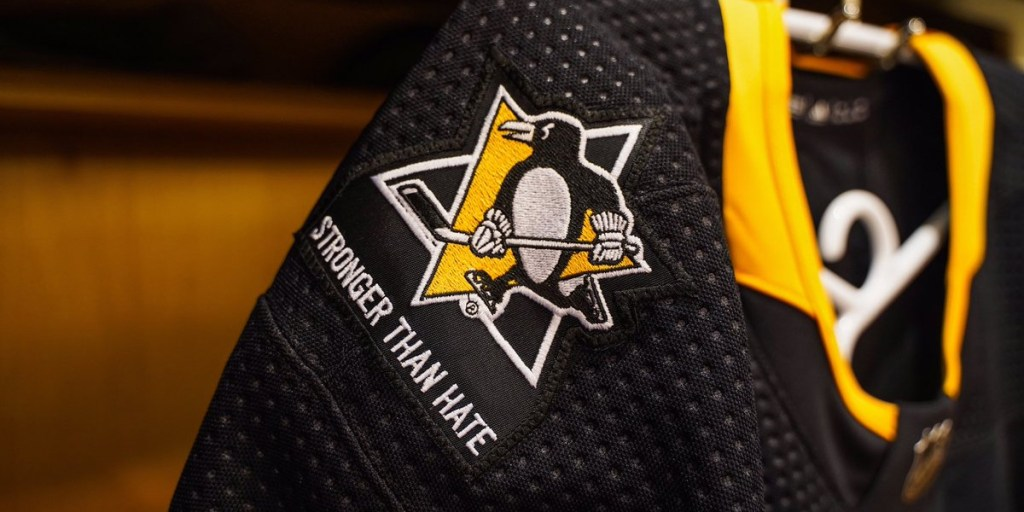 a6a50ca4dec The Pittsburgh Penguins will wear special  Stronger Than Hate  jersey  patches in honor of victims of the Tree of Life Synagogue mass shooting