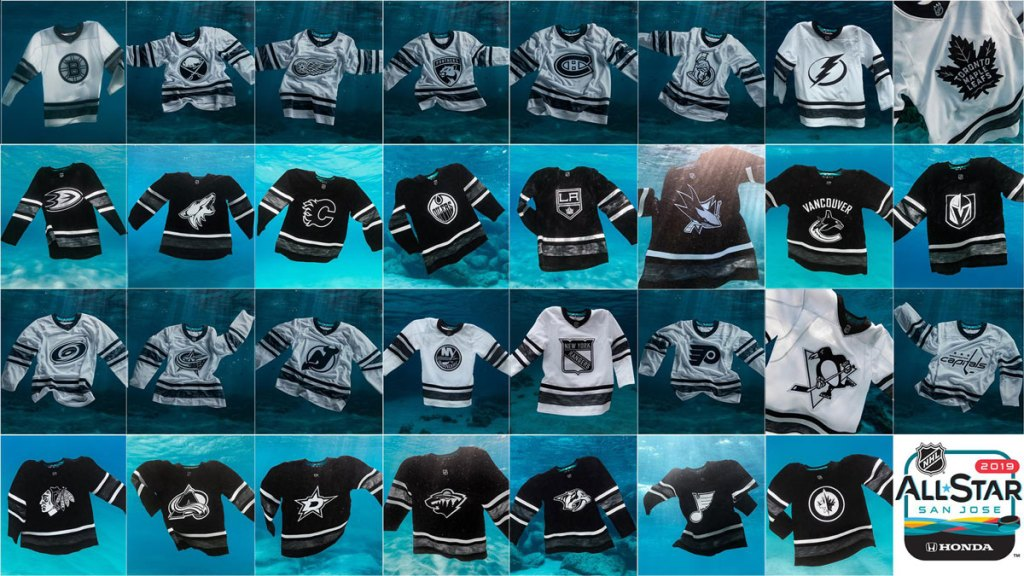 84548d5831e NHL's environmentally-conscious All-Star jerseys feature team logo on front  for first time ever