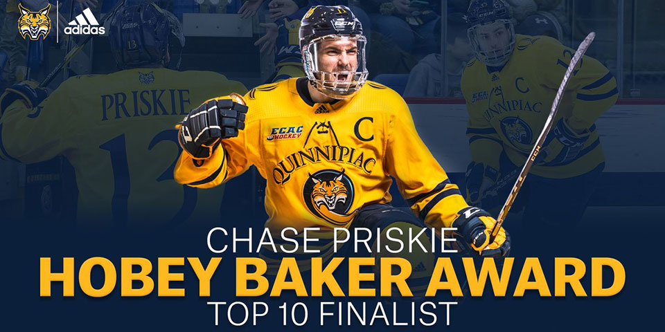 238e0e14481 Chase Priskie named Hobey Baker Award finalist amid speculation on his  future with Capitals