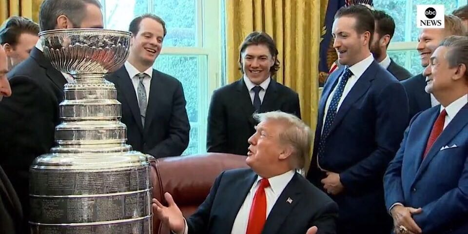 Capitals visit Donald Trump at White House in honor of Stanley Cup