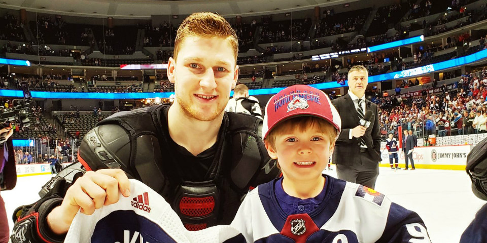 new arrivals 94c7a 2d7a3 Nathan MacKinnon gave the jersey off his back to his number ...