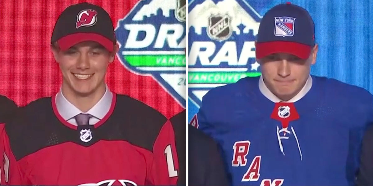 detailed look 2f17a d7f1f New Jersey Devils select Jack Hughes first overall, Kaapo ...