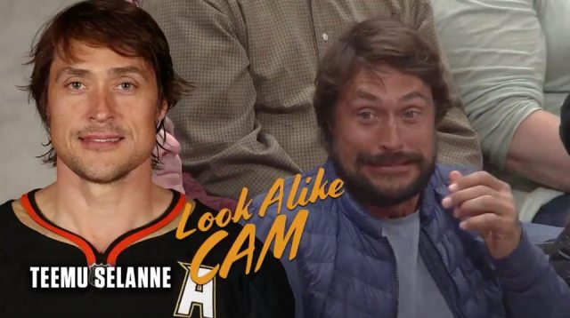The Anaheim Ducks featuring Teemu Selanne on the Teemu Selanne Look-a-Like Cam is the best thing you'll see today