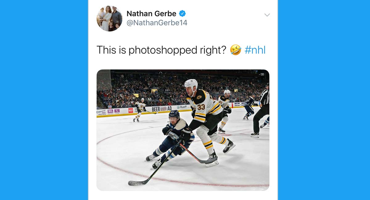This Photo Of Tiny Nathan Gerbe And Very Tall Zdeno Chara Is Going Viral