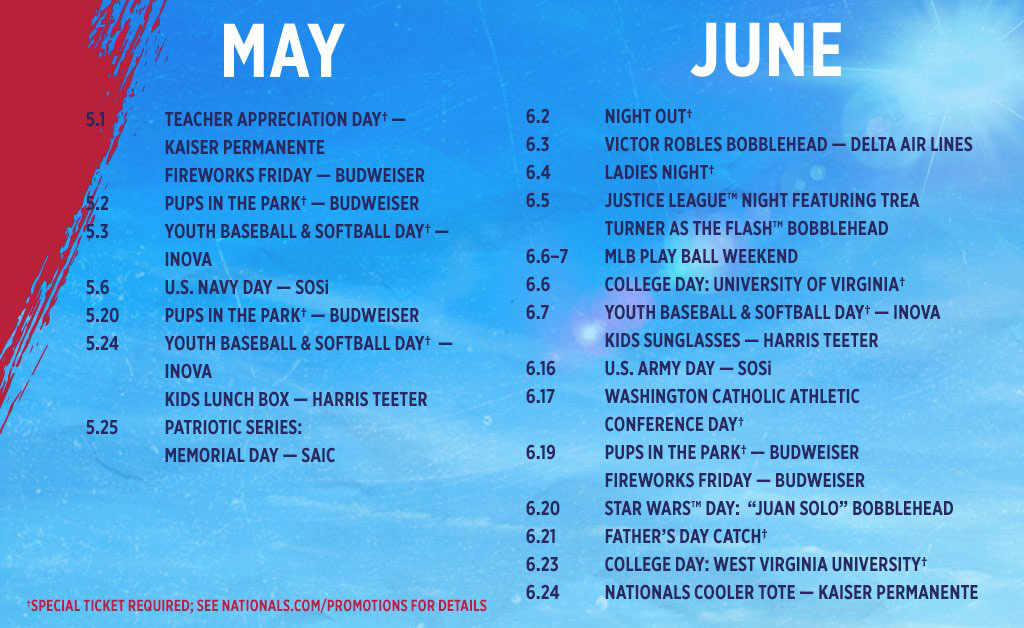 It is a graphic of Monster Washington Nationals 2020 Printable Schedule