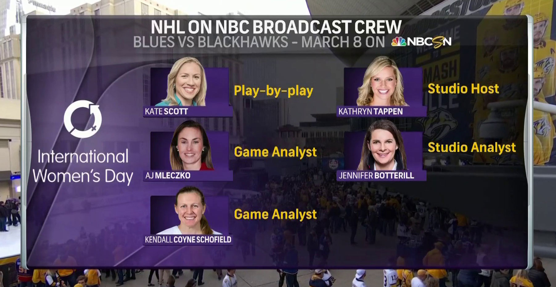 For The First Time Ever An All Female Crew Will Broadcast A Hockey Game To Celebrate International Women S Dayrmnb
