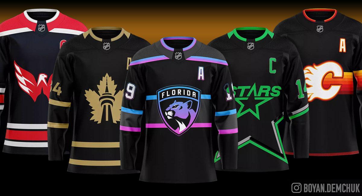 Toronto-based NHL fan designs incredible Dark Mode jerseys for all 32 teams