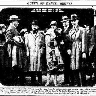Anna Pavlova arrives to Sydney in 1926. Sun (Sydney, NSW : 1910 - 1954), Friday 16 April 1926, page 1 - National Library of Australia