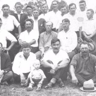 Уральцы, рабочие фермы, в Австралии, 1930 год.