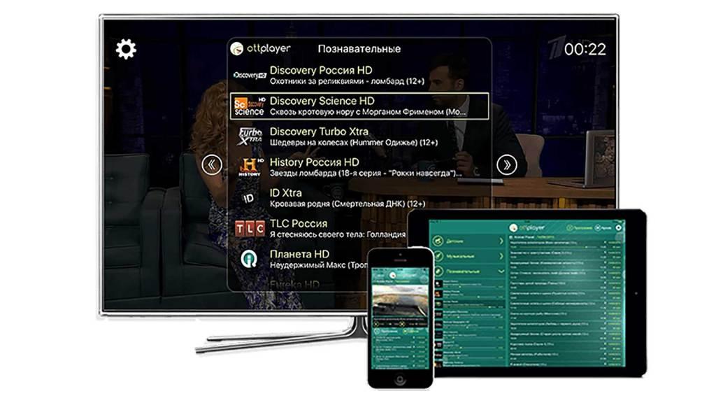 Просмотр OTTCLUB на устройствах Apple