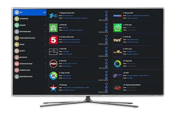 Просмотр OTTCLUB на Smart TV в OTTPLAYER