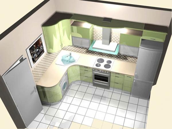 дизайн кухни 9 метров 5