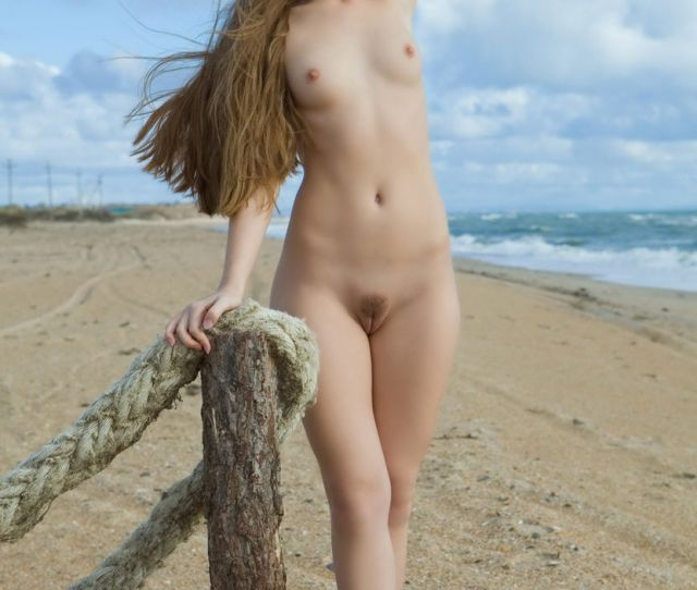 Skinny Teen Girl With Very Long Hair On The Beach 19 Photos