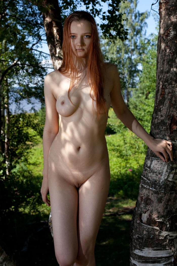 Nudestgirl Young Hairy Teen Pussy In The Woods