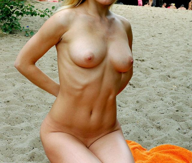 Cute Blonde With Nice Boobs At Nudist Beach In Moscow 20 Photos