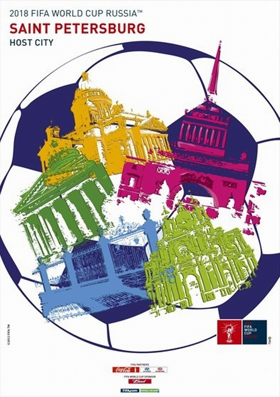 FIFA World Cup 2018 Russia - Saint Petersburg poster