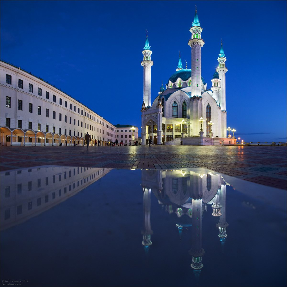 Kazan Kremlin And The Fireworks On The City Day Russia
