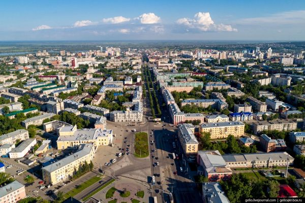 Barnaul – the view from above · Russia Travel Blog