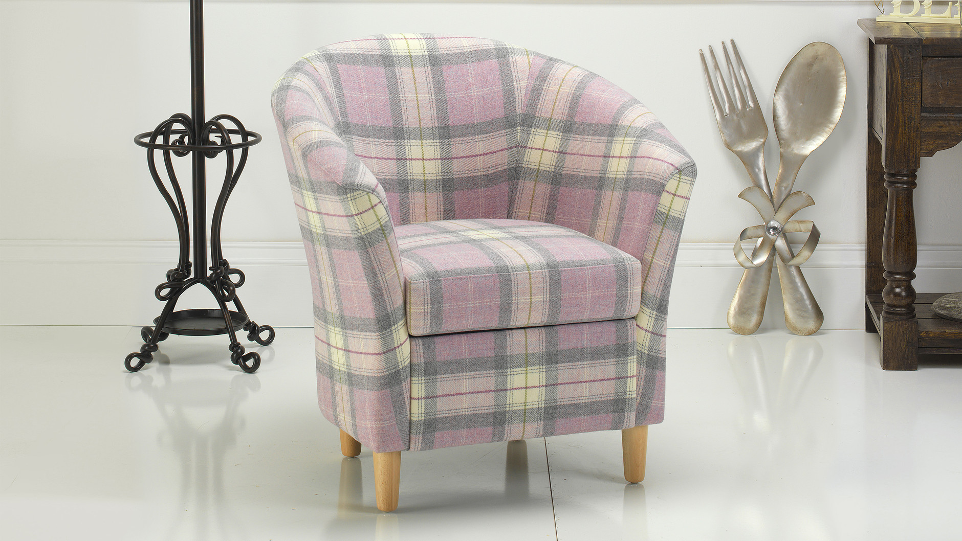 large tub chair cover rentals liverpool tartan russkell furniture