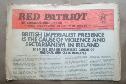 'Red Patriot', Communist Party of Ireland (Marxist-Leninist), Dublin, 1975.