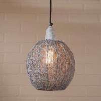 Zinc metal finish nesting pendant light