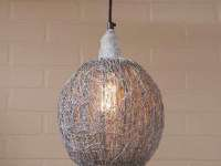 Zinc metal finish nesting pendant light