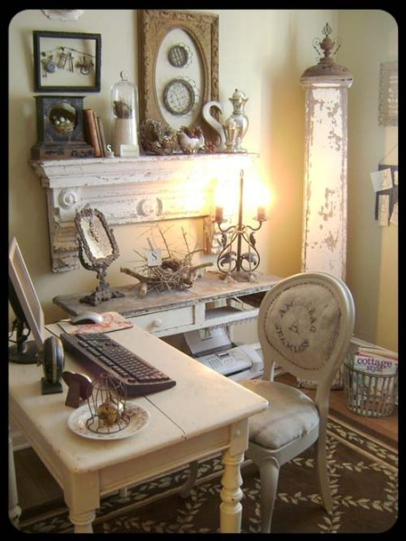shabby chic home office ideas Decorate A Home Office Shabby Chic Style - Rustic Crafts