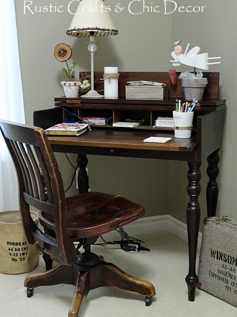 My New Vintage Desk Set For A Shabby Chic Office