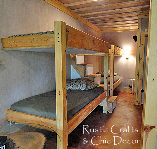bunk bed plans cabin