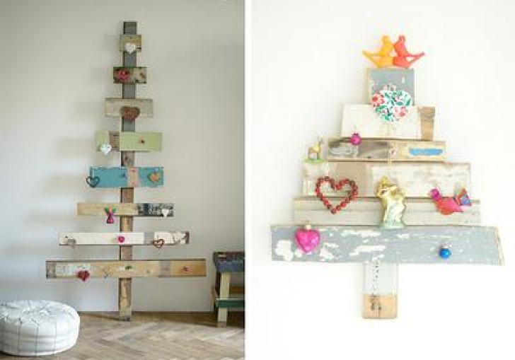 Wood Christmas Tree Ornaments